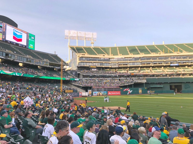 Oakland As Games with Kids - Outfield