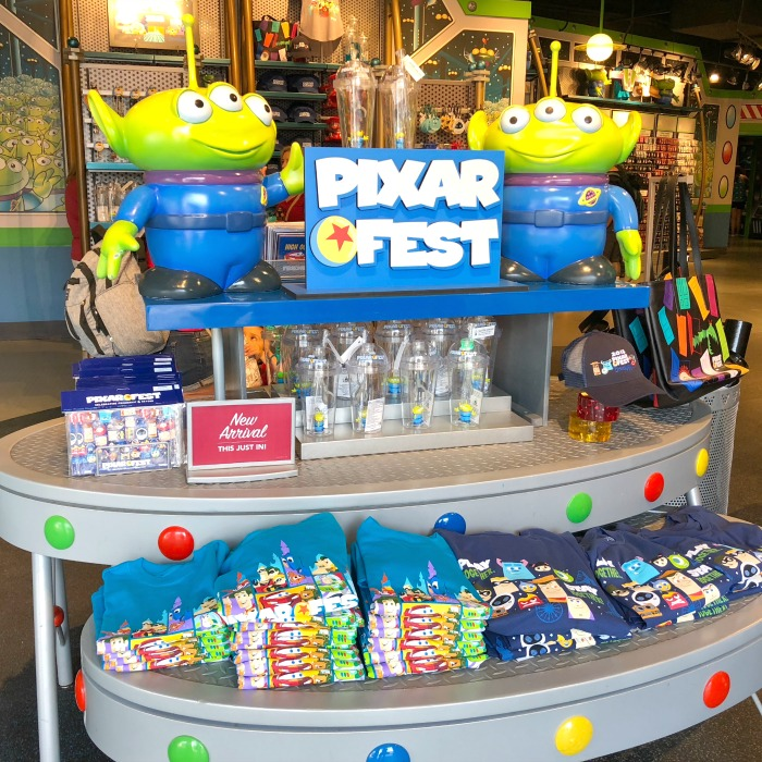 Pixar Fest at Disneyland - Merchandise in Tomorrowland