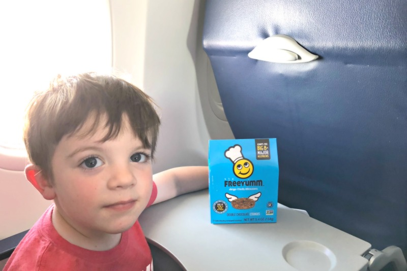Travel with Food Allergies - FreeYumm on Airplane