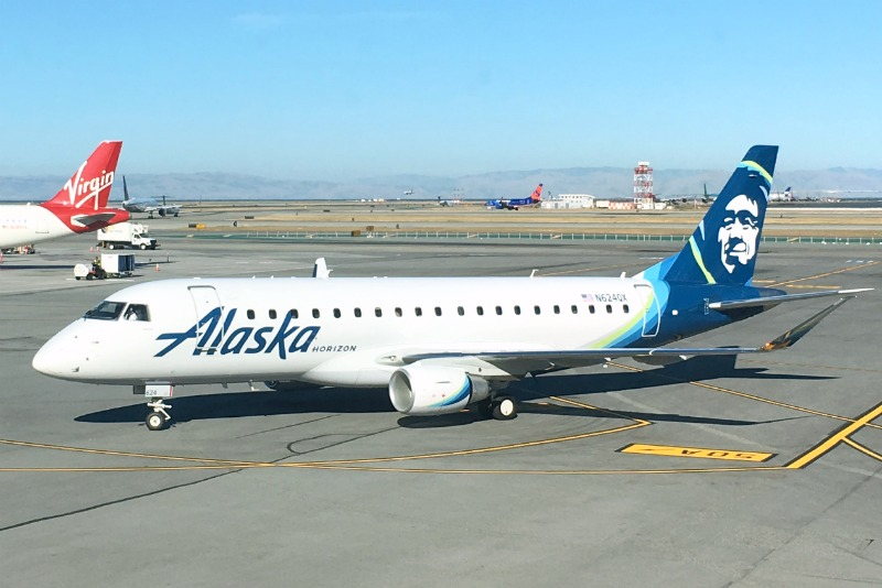 Flight Schedule Change - Alaska Airlines Plane at SFO