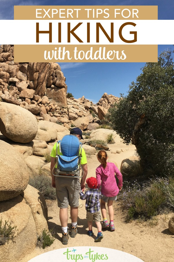 Top tips for hiking with toddlers, whether you are planning an epic national parks travel adventure or just getting the kids outdoors close to home. #hiking #hikingwithkids #toddlertravel #familytravel
