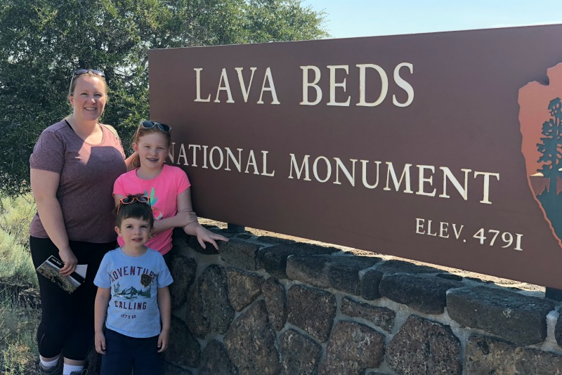 Volcano Road Trip - Lava Beds Sign