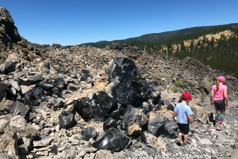 Volcano Road Trip - Obsidian Flow Newberry