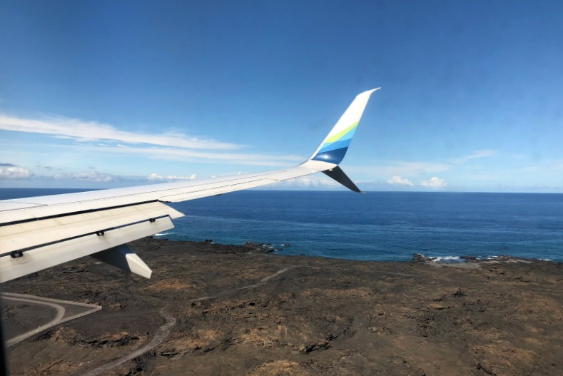 Hawaii Big Island with Kids - Landing at KOA Kona Airport