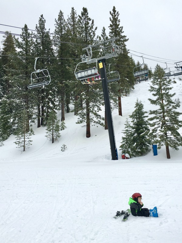Mistakes Skiing with Kids - Unwilling Toddler Skier