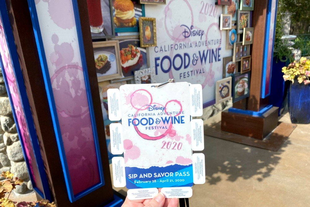 Disney California Adventure Disneyland Food Wine Sip and Savor Pass