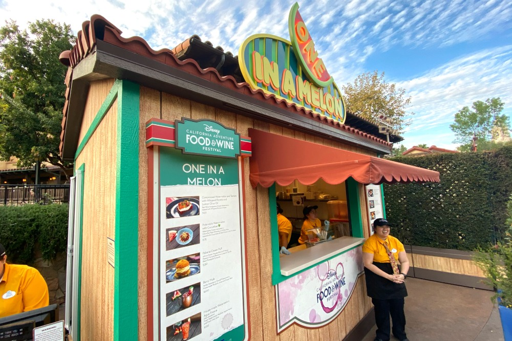 Disney California Adventure Food and Wine Festival 2020 - One in a Melon Kiosk