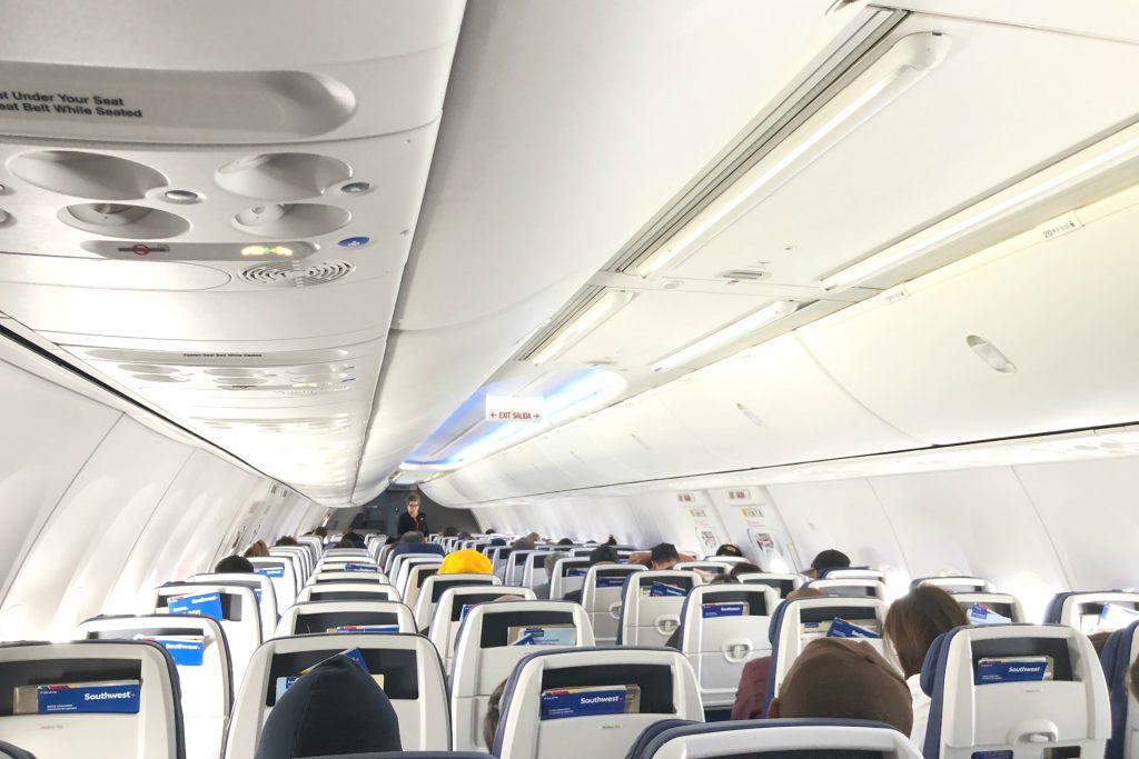 Southwest Hawaii Flight Review - 737-800 Cabin Interior