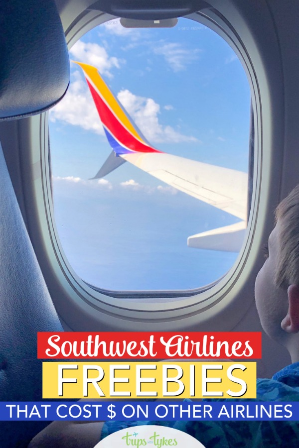 Taking a flight on Southwest Airlines? Here are 7 totally free things on Southwest that can help save money compared to flying with other airlines. #southwest #southweststorytellers #southwestairlines #airtravel #budgettravel