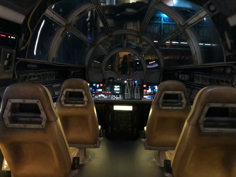 Star Wars Galaxys Edge Disneyland - Falcon Cockpit