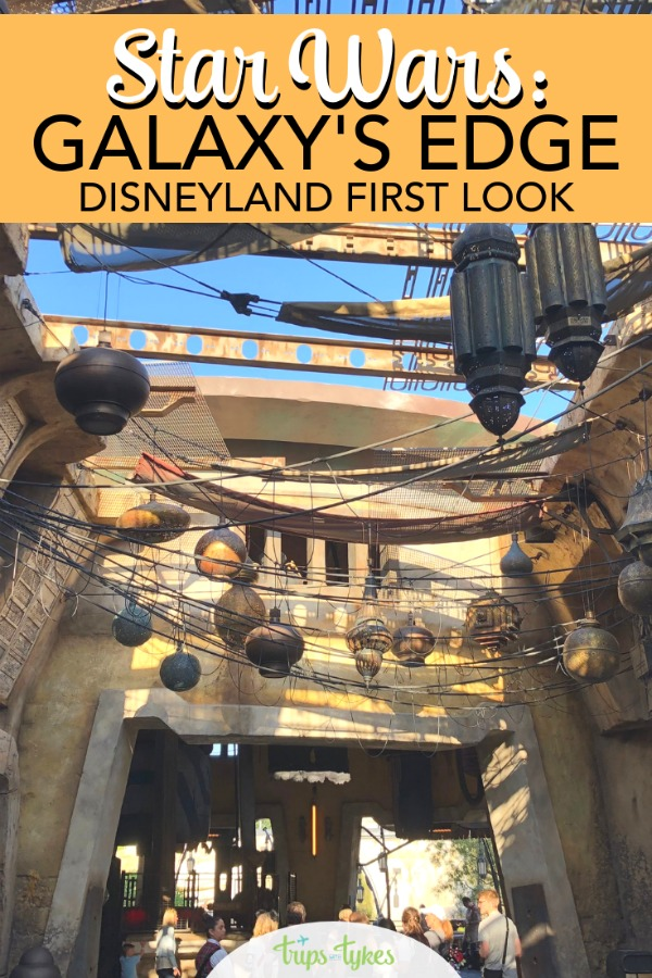 Get a first look at Disneyland's Star Wars: Galaxy's Edge with exclusive photos and video from the media preview of Black Spire Outpost on Batuu. #galaxysedge #disneyland