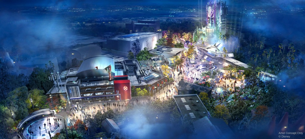 Disneyland Avengers Campus Aerial View