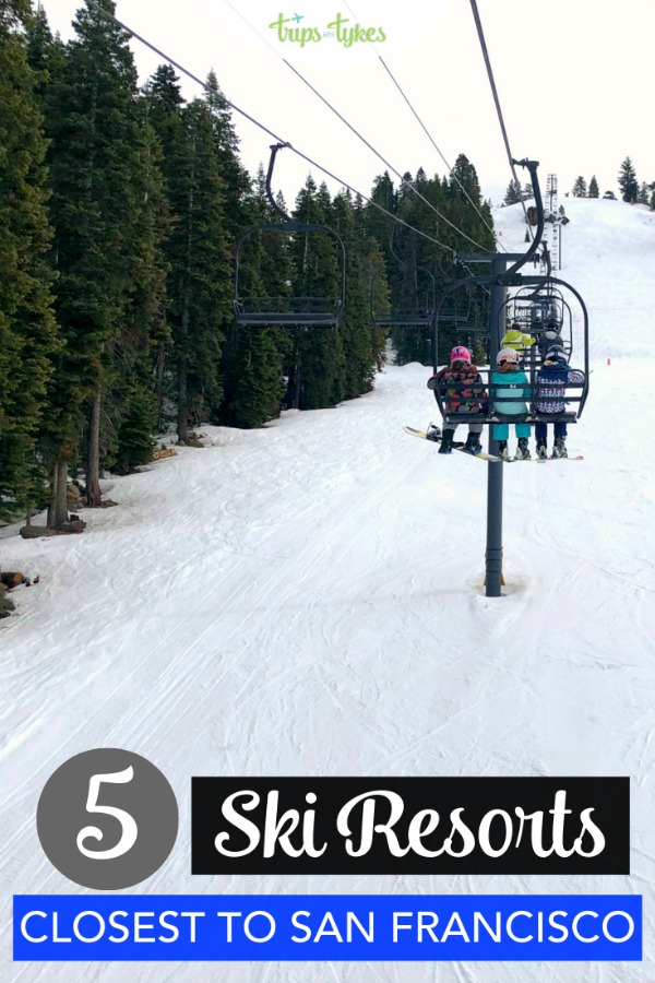 Looking for skiing and snowboarding close to San Francisco, California? These 5 ski resorts in the Sierras and near Lake Tahoe are the closest drive from the Bay Area! It's possible to do a day trip or an overnight ski vacation if you choose one of these resorts. #skiing #skitrip #laketahoe #california