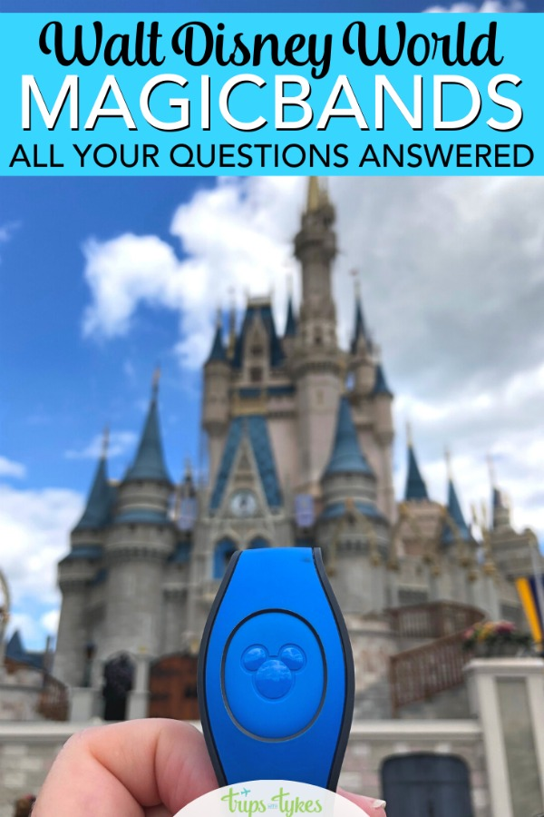 Ultimate FAQ for MagicBands at Disney World. Everything you need to know about MagicBands, from Fastpass+ to park tickets to charging privileges to customization and more. #disneyworld #disney #magicband