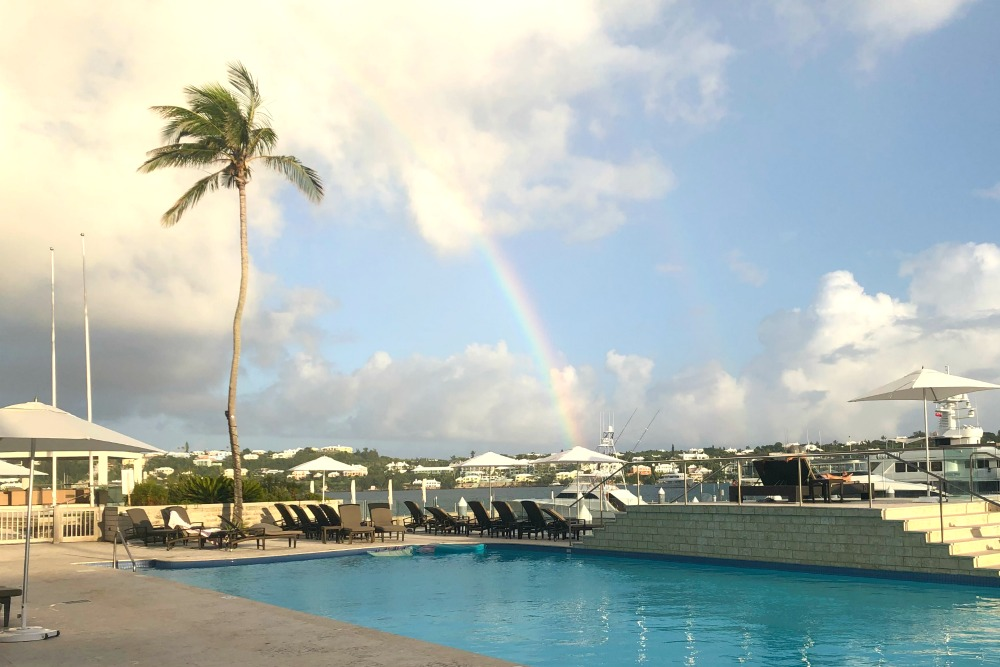 First Timers Guide to Bermuda - Rainbow over Hamilton Harbor