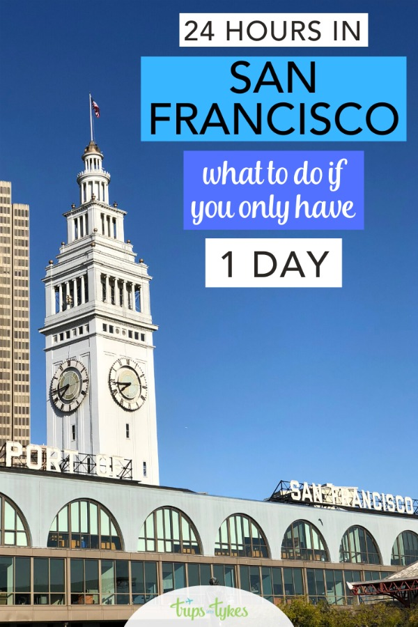 Only have 1 day to visit the City by the Bay? Tips and a detailed itinerary for visiting San Francisco, California in 24 hours. #sanfrancisco #california