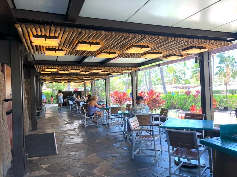 Disney Aulani - Ulu Cafe Outdoor Seating