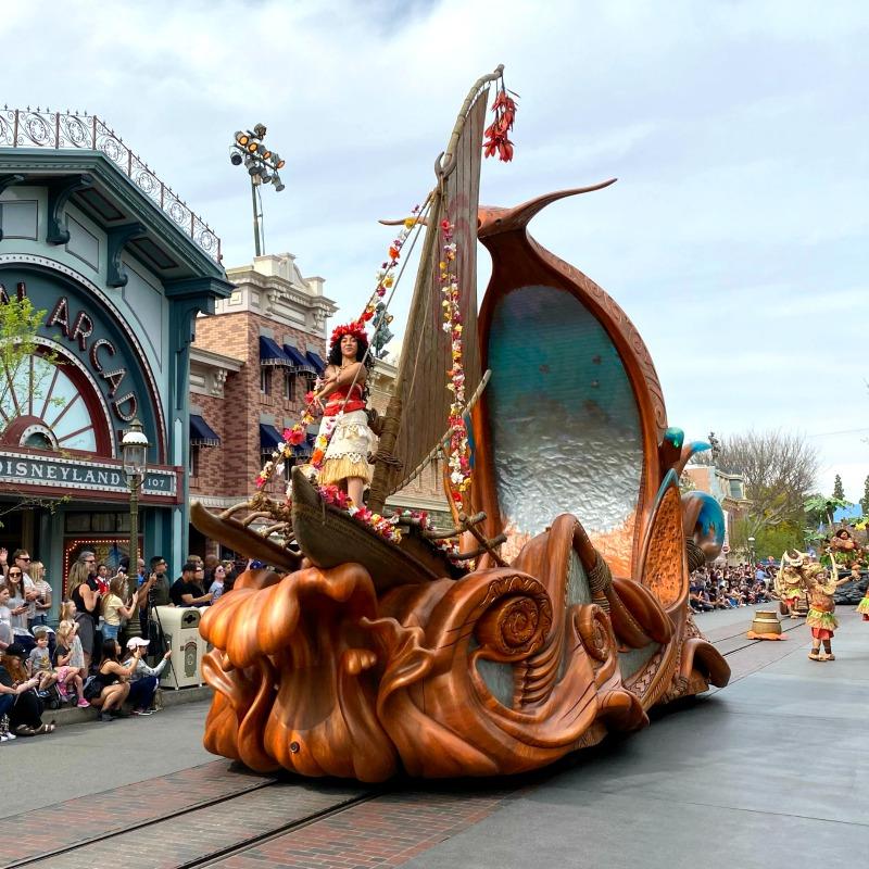 Disneyland Magic Happens Spring Parade - Moana Float