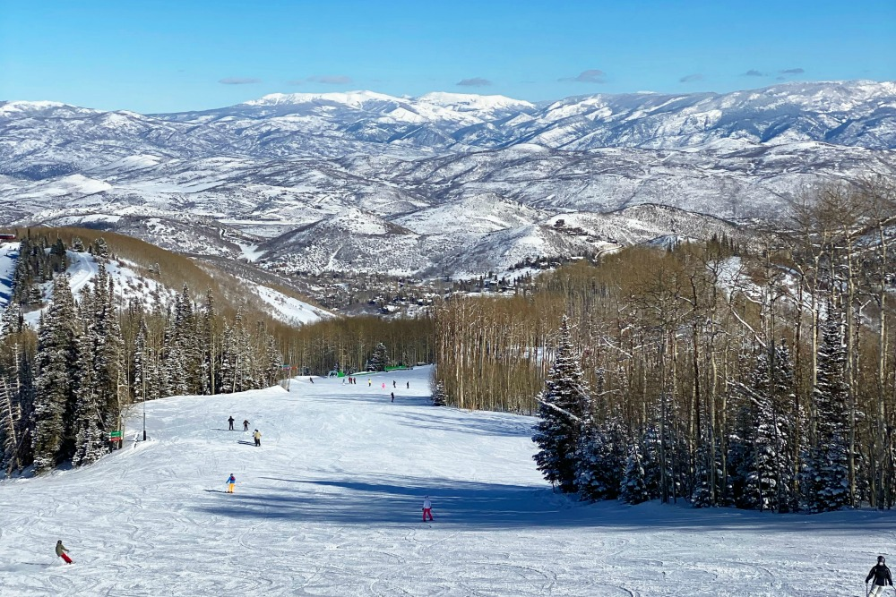 Park City Mountain Utah Ski View