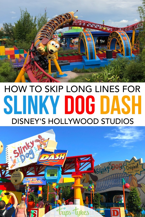 Want to ride Slinky Dog Dash in Toy Story Land in Disney's Hollywood Studios but don't want to wait in a super long line? All the tips and secrets to scoring Fastpass+ reservations for Slinky Dog Dash, plus other lesser-known strategies and hacks that will reduce your wait!