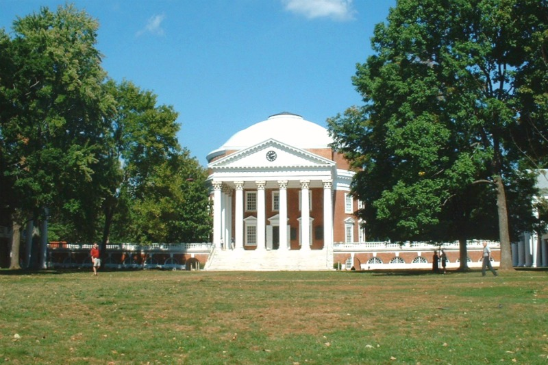 College Towns to Visit with Kids - Charlottesville Virginia Rotunda