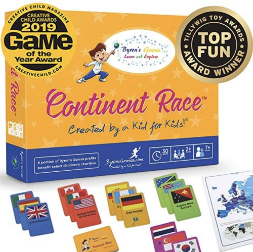Continent Race Board Game