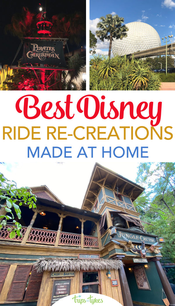 Can't ride attractions at Disneyland or Walt Disney World right now due to the parks closures? No problem! These creative Disney fans re-created their favorite rides at home. Spaceship Earth, Haunted Mansion, Jungle Cruise, Pirates, and more.