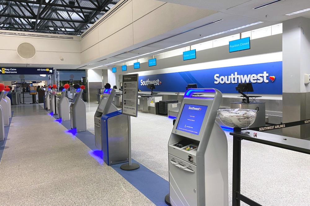 Southwest OAK Airport Ticket Check in Counters