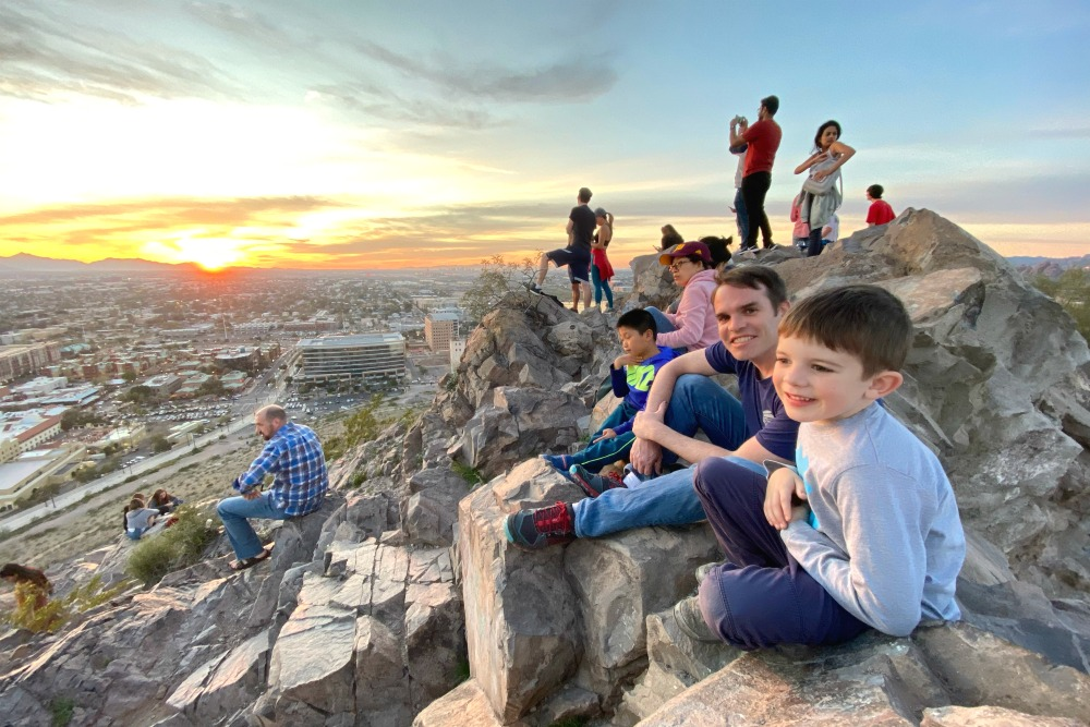 Tempe Arizona with Kids - Hayden Butte A Mountain