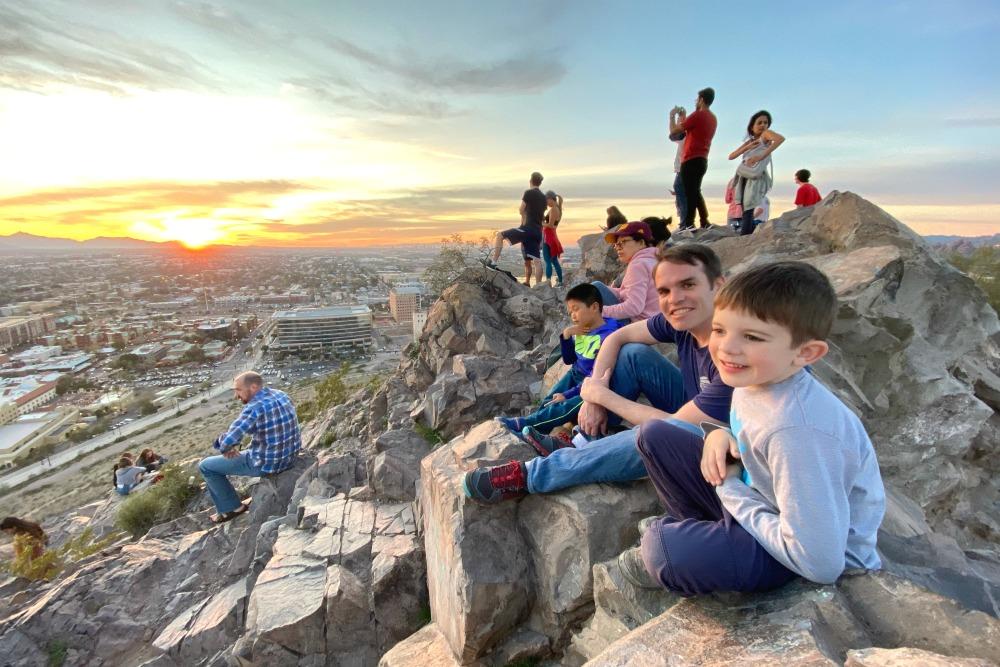 Tempe Arizona with Kids - Hayden Butte A Mountain