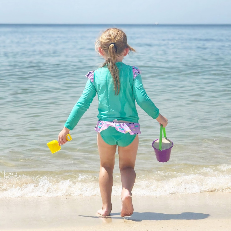 Orange Beach Alabama Child Playing on Beach