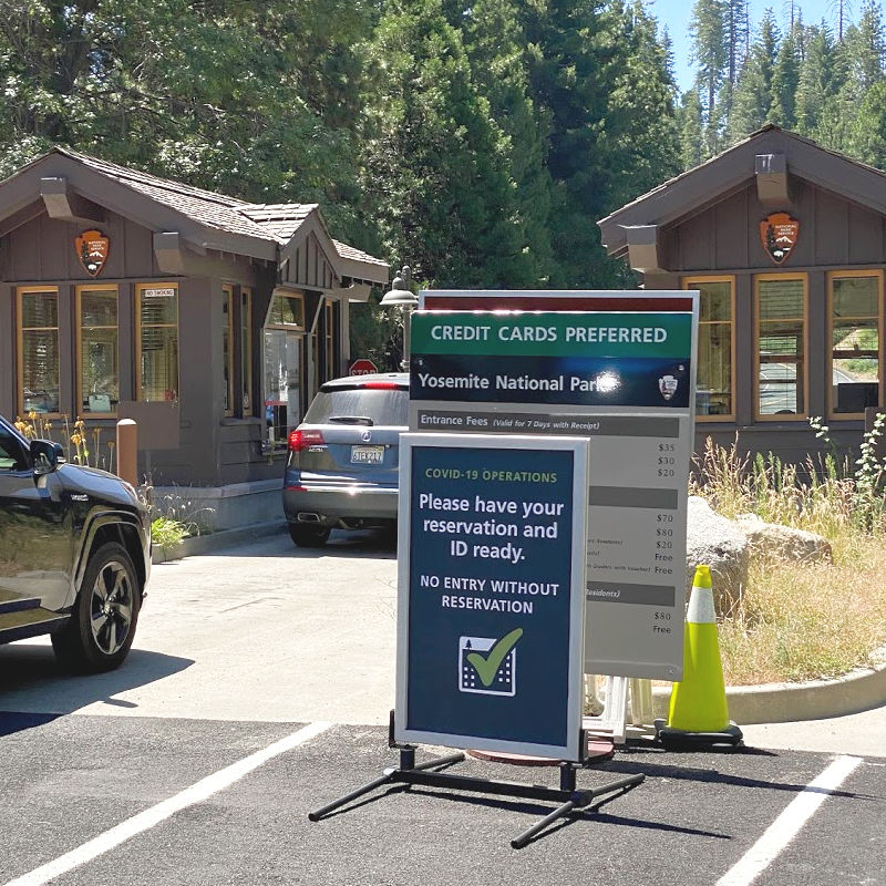 Yosemite National Park Coronavirus 2020 - Highway 120 Entrance