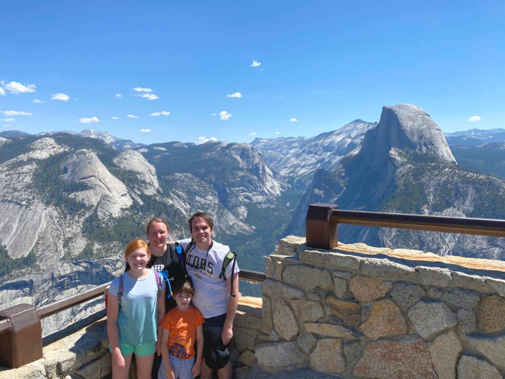 Yosemite National Park Glacier Point Half Dome