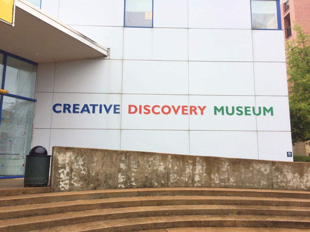 Creative Discovery Museum entrance in Chattanooga Tennesee