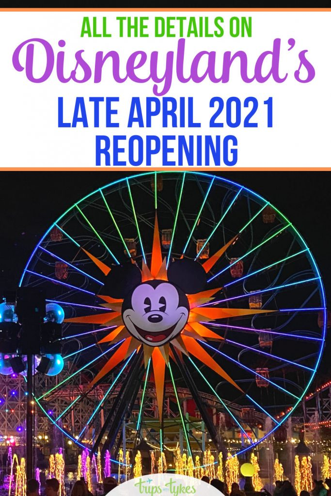 Disneyland in Anaheim, California is planning a late April 2021 reopening - after more than a year of closure! All the details on theme park modifications and capacity restrictions. Plus planning advice for Disneyland travelers with spring and summer 2021 vacations.