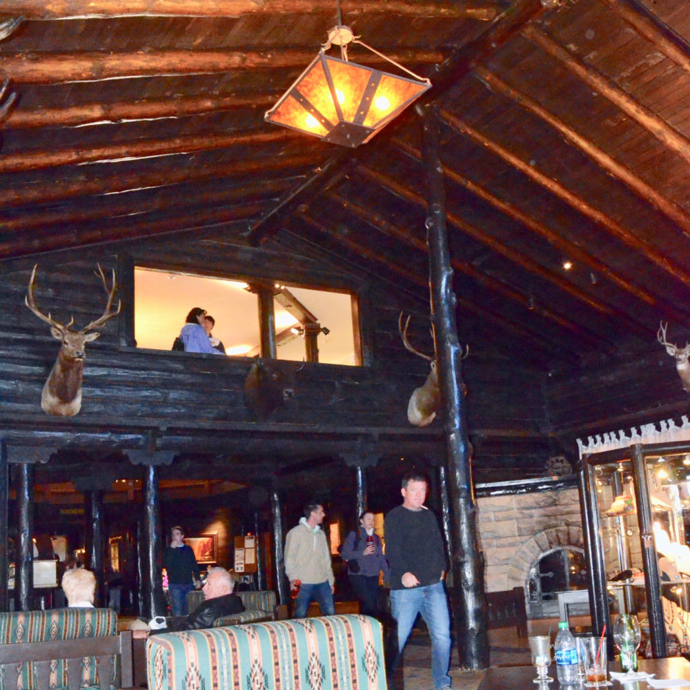 Lobby of El Tovar Lodge in Grand Canyon
