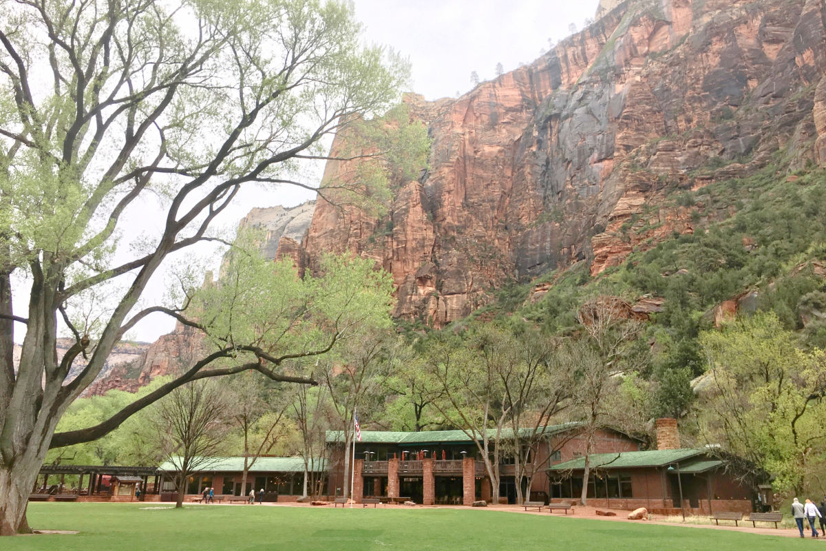 Exterior of Zion Lodge in Zion National Park