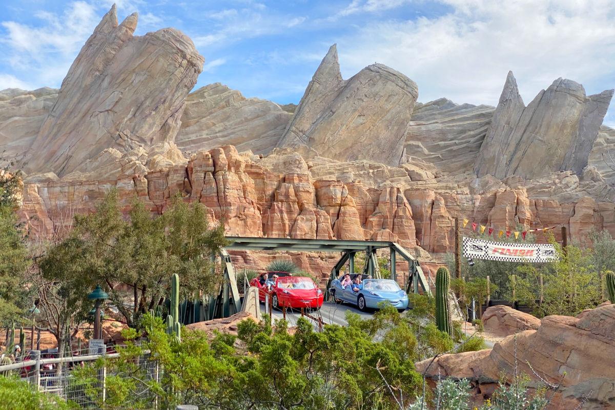 Radiator Springs Racers in Cars Land at Disney California Adventure at the Disneyland Resort