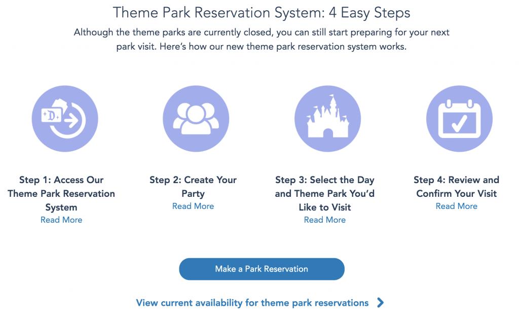 Disneyland Theme Park Reservations Start Screenshot