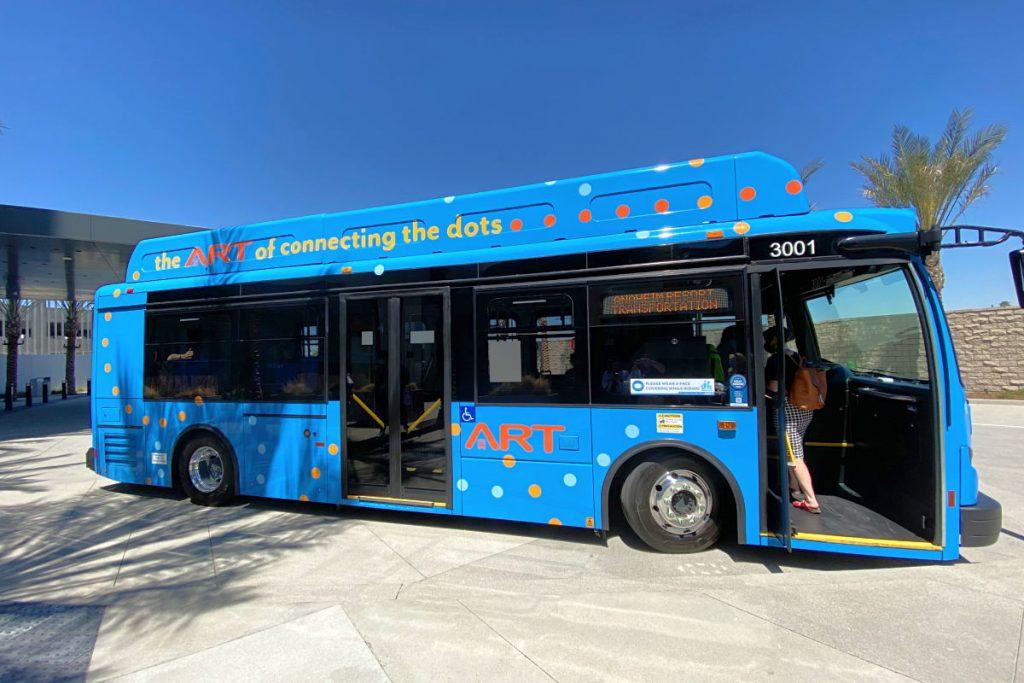 Anaheim Resort Transit Bus at Radisson Blu Anaheim