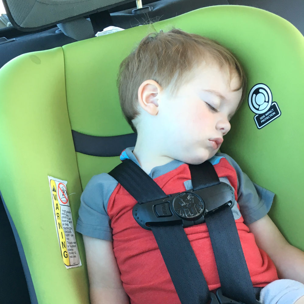 Child in Car Rental Car Seat