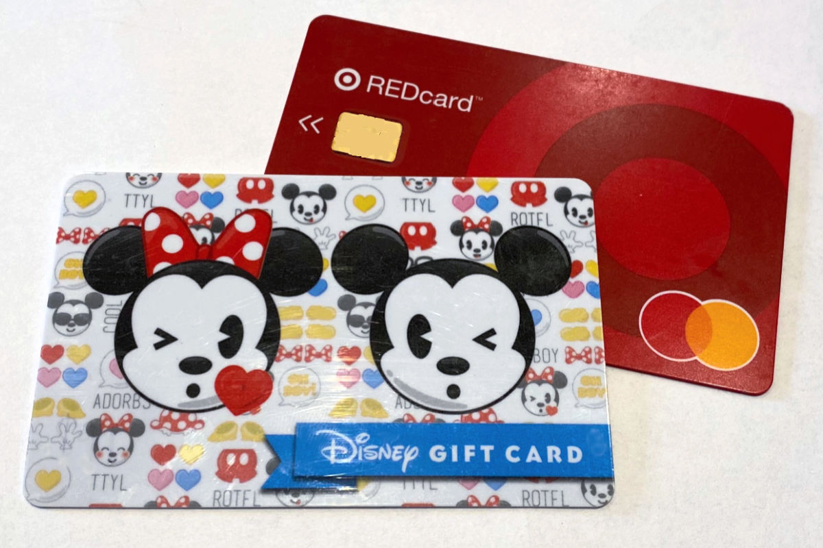 Target Redcard and discount Disney gift card