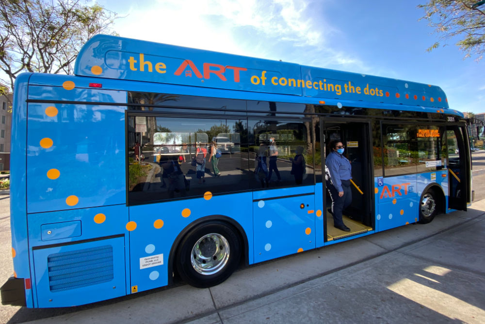 Disneyland Anaheim Resort Transit new electric bus