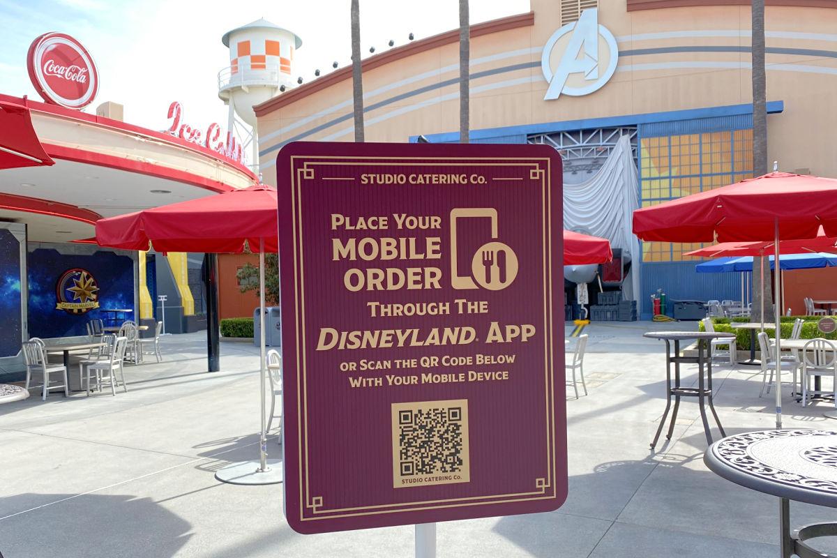 Mobile Ordering Sign in Disneyland