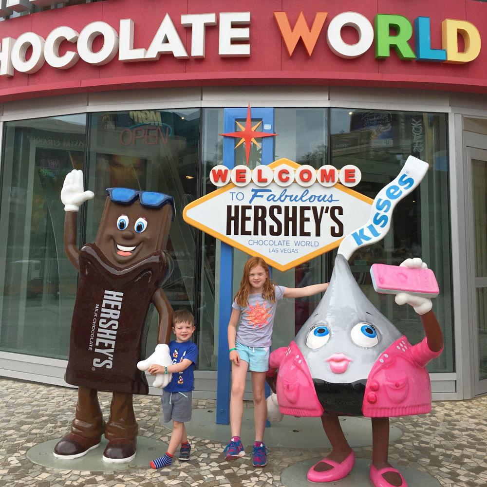 Kids at Hershey Chocolate World Las Vegas