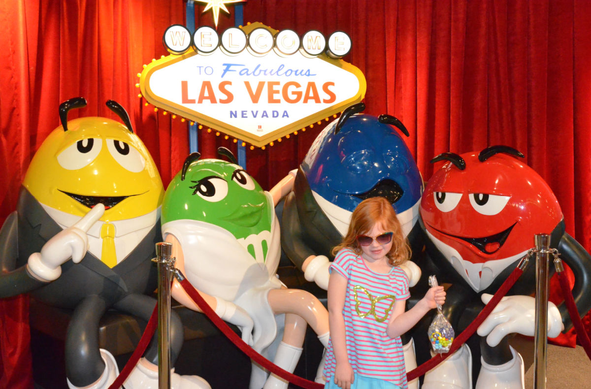 Young child at M&M World Las Vegas
