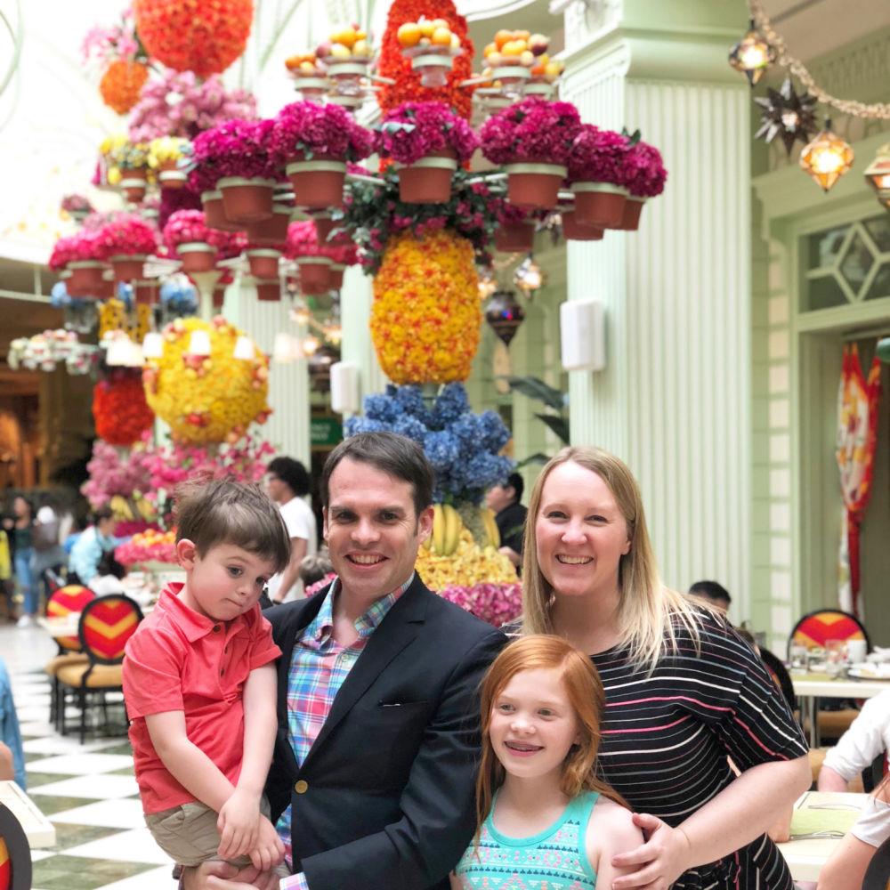 Family at Wynn Las Vegas Easter Buffet