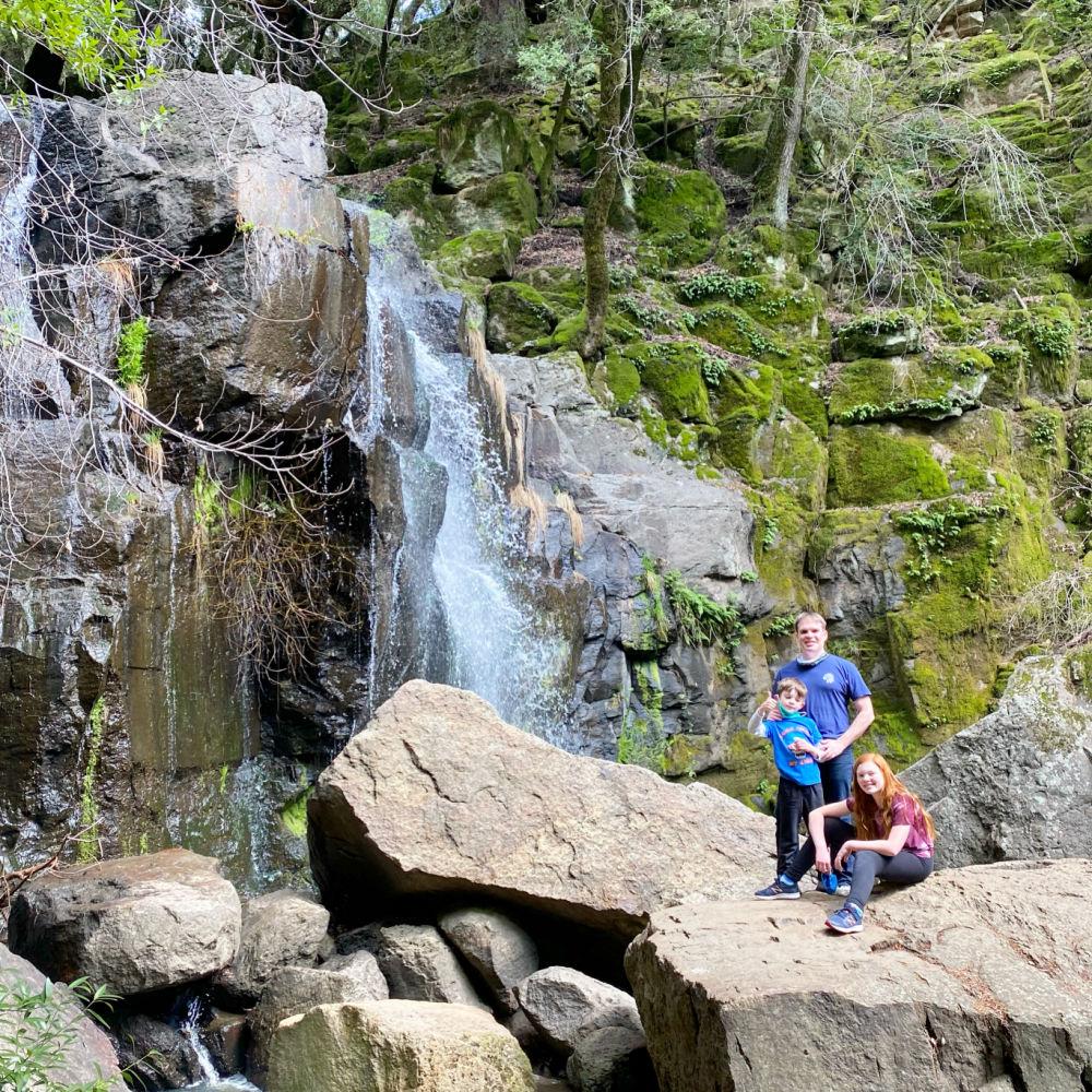 Family on Linda Falls Hike in Napa Valley California