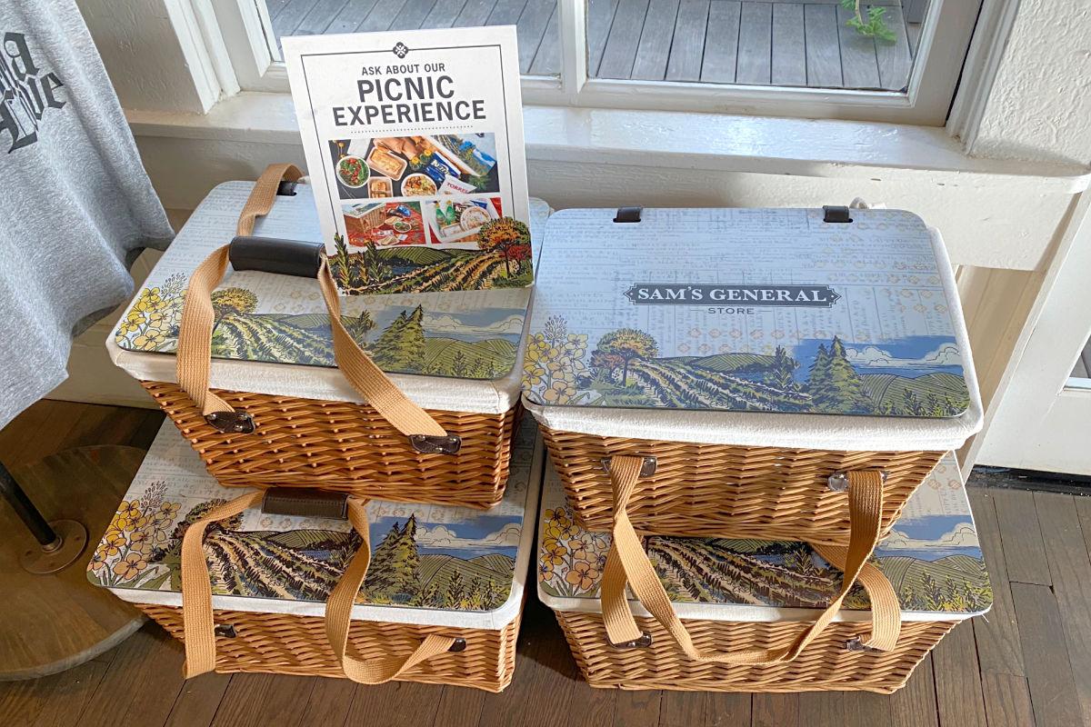 Sams General Store Picnic Baskets in Calistoga California
