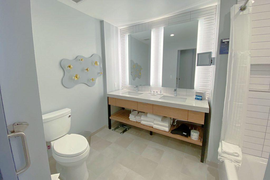 Radisson Blu Anaheim - Bunk Room Bathroom Dual Vanity